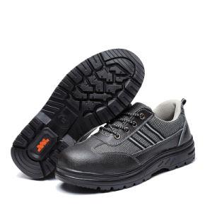 낮은 발목 부조세공한 가죽 광업 안전 단화