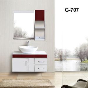 Customized estilo moderno banheiro montada na parede com armário do lado do espelho