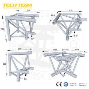 Fascio di alluminio dell'angolo della casella/giunzione nera del fascio/connettore quadrato del fascio