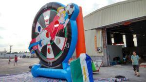 2016 de fútbol inflables caliente juegos de disparos para la venta