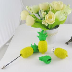 Пвх Custom форма силиконовой основе Cute Ананас форму забавные формы силиконовый чехол USB