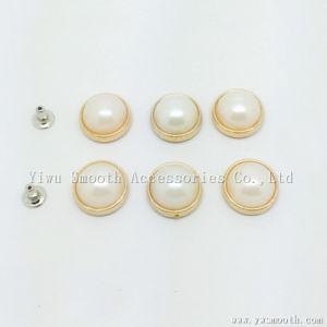 Perlas de la ronda de la mitad de imitación de plástico blanco perla de remache para zapatos