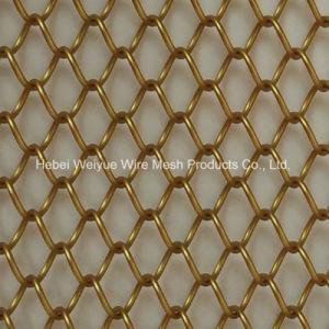 Kleurrijke Diamantvormig van de Decoratie van de Gordijngevel van het Netwerk van het Metaal van het roestvrij staal