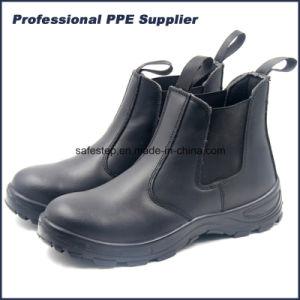 No hay Cuero auténtico encaje Puntera zapato de trabajo