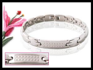 Armband, Edelstahl-Kettenarmband der Frauen, Rosen-Gold oder Silber-Farbe mit Bio-Elementen
