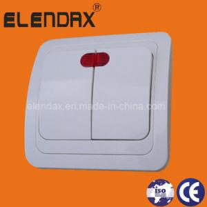 Euro Style для утопленного монтажа двойные стенки переключателя освещения (F2102)