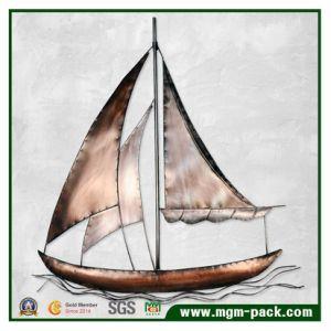 Retro pittura della decorazione della casa del metallo della barca a vela