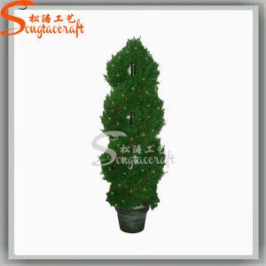 Decoração de jardim bonito Topiary Artificial planta árvores