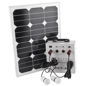 Éclairage solaire et le système de charge
