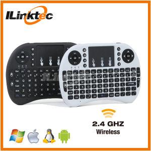 Hete Sale 92 Keys 2.4G Wireless Mini Keyboard met Touchpad tot 15 Meters