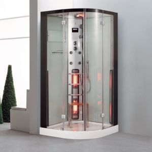 2015 Esquina único lujoso cuarto de baño de vapor sauna de infrarrojos (leyenda la serie K085)