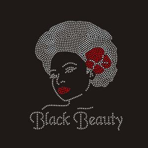 Black Rock Grils grossista personalizado Rhinestone Crystal Hotfix Design Motif