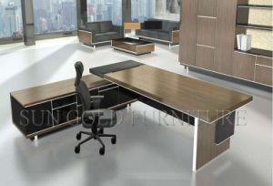 Mobilier de bureau moderne en bois de teck en forme de l office