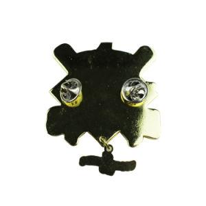 Pin su ordinazione variopinto superiore del risvolto dell'ala dello smalto di marchio