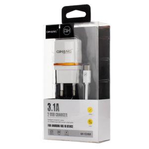 3.1A двойной USB телефонный адаптер зарядного устройства с типом-C кабель USB