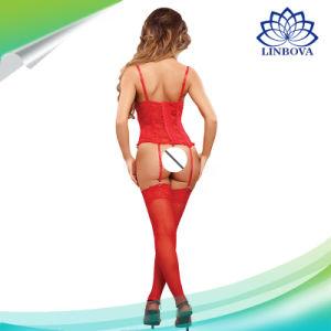Dia dos Namorados Ladie lingerie sexy Red Black Lace Mulheres Sexy lingerie sexy Lenceria Lingerie erótica fantasias