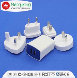 Interchangable AC DC電源のアダプターのデュアルポートUSBの充電器5V 2.1A保証3年の