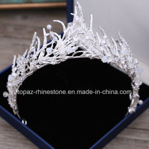 2018の最も新しいカスタマイズされた水晶王冠の結婚式のガラスStonneのラインストーンのクリスマスのギフトのティアラの花嫁の王冠(BC06)
