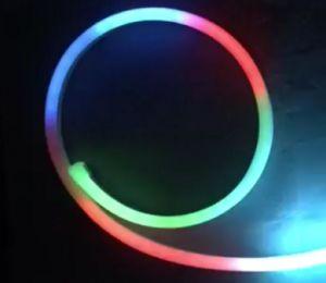 Gleichstrom 24V geben Bendable der LED-Neonflex-RGB-Digital Farben-LED Neonneonstreifen licht-des Silikon-LED für Weihnachtsdekoration-Seil-Beleuchtung frei