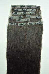 Le plus récent de luxe de gros super mince Invisible Clip transparente dans les cheveux vierge 100 % d'extension Remy Cheveux humains