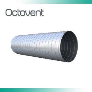 Tubo a spirale galvanizzato di spirale del condotto dello sfiato del condotto del sistema di ventilazione