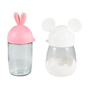 7dc664c9b Frasco de vidro de desenhos animados Eco-Friendly Garrafas de água para as  crianças