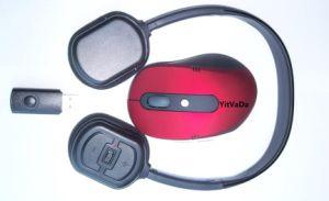 2in1 2.4G Draadloze Hoofdtelefoon met de Draadloze Reeks van de Muis