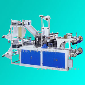 連続的なRolled T-ShirtかFlat Plastic Bag Making Machine