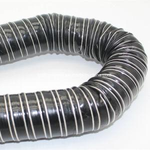Luchtleiding van de Stof van de Glasvezel van het silicone de Vuurvaste Flexibele