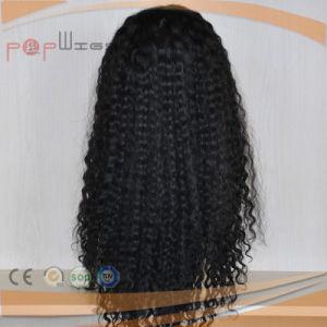 完全なレースの黒の人間の毛髪のねじれた巻き毛の女性のかつら(PPG-l-01794)