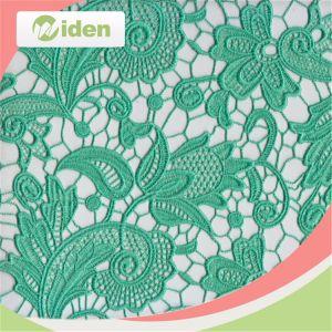 Polyester-weiße afrikanische Guipurespitze-chemisches Stickerei-Spitze-Gewebe 100%