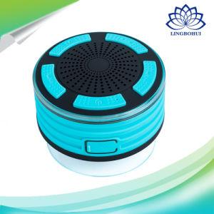 Chuveiro sem fio à prova de água IPX7 Alto-falante do computador com iluminação de LED de rádio FM