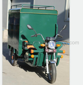 貨物ボックスが付いている3つの車輪の電気オートバイ