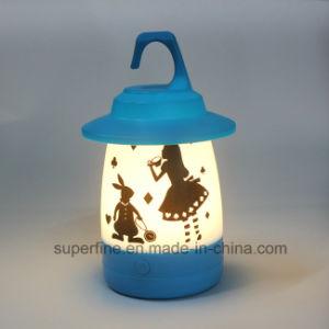 Fonctionnant sur batterie portable multifonctions Décoration de Noël romantique Cute Luminary LED lampe de bureau en plastique