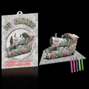 3D Garden Painting Puzzle Game Puzzle de papel 3D com caneta de pintura (10281240)