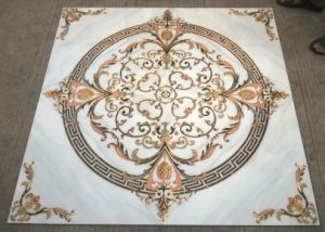 Tuile D Or Polished De Tapis D Etage En Ceramique Avec La Lumiere