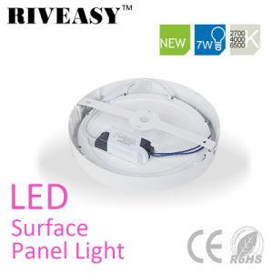 7W Round LED no painel de luz LED de luz do painel de Superfície com Marcação ce&RoHS para interior
