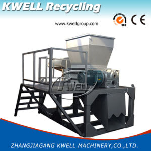 De madeira/Branco/Caixa/resíduos retalhados Máquina Triturador de Eixo Duplo/Granulator Plástico