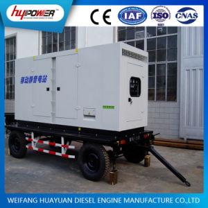 80kVA Trailer Grupo Electrógeno móvil impulsado por motor Diesel 6 cilindros