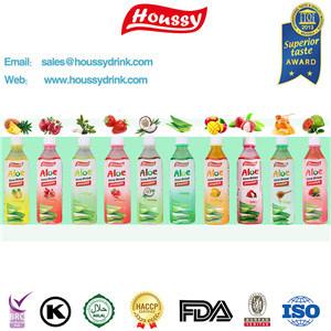 Het Aloë Vera Juice Drink van Houssy met Nieuw Etiket in 2016