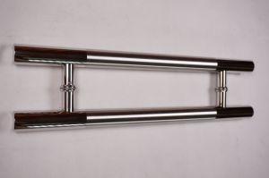 Hの形のガラスドアの引きのハンドルの円形の管の引きのハンドル