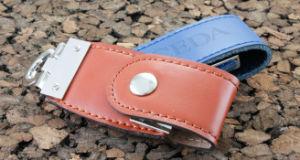 Стильный кожаный флэш-накопитель USB (АПН-027П-1)