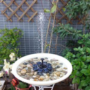 Solar flotante al aire libre Piscina de agua de baño de aves de la bomba de la fuente