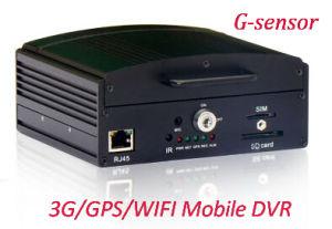 4-CH LLENO D1 H. 264 Vehículo/Mobile DVR con disco duro de soporte de bloqueo de seguridad 1t &Tarjeta SD de 128g max