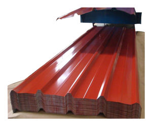 Strato rivestito preverniciato del tetto del metallo dello zinco di ondulazione