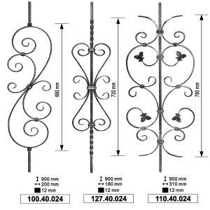 熱い販売の装飾的な屋内錬鉄のBalusters