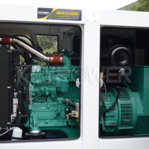 116kw/145kVAコントロール・パネルが付いている防音の電力のディーゼル発電機セット