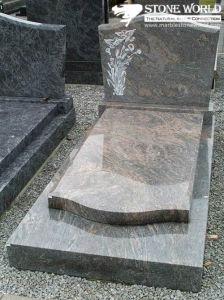 De Europese/Russische/Amerikaanse Grafsteen van de Stijl Granite/Marble met het Ontwerp van de Douane