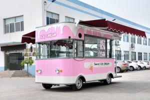 Aanhangwagen van het Voedsel van het roomijs de Mobiele Elektrische, de Vrachtwagen van het Voedsel