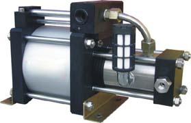 최상 300-480 바 고압 압축 공기를 넣은 몬 질소 가스 승압기 펌프